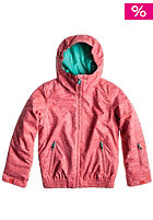 ROXY Kids Taifish Hooded Jacket h coral texturiz