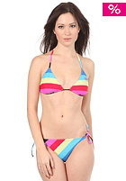 ROXY Rugby Stripes Tie Sides Bikini neon blue