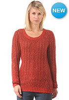 ROXY Womens Bristolbay Knit Sweat aurora red heat