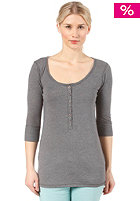 ROXY Womens Cruz L/S T-Shirt dark heather grey