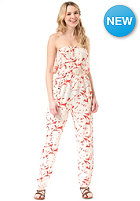 ROXY Womens Funnel Of Love Overall fiery orange shelter floral pa