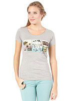 ROXY Womens Good Looking Flag S/S T-Shirt heather grey