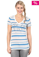 ROXY Womens I Just Be Roxy S/S T-Shirt pacific blue stripes