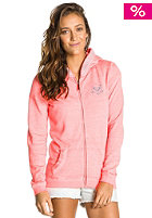Womens Ice Cream Fleece Hooded Zip Sweat glow pink