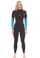 ROXY Womens Ignite Roxy 3/2 mm L/SL Chest Zip Fullsuit black