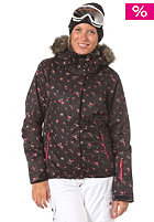 ROXY Womens Jet Ski JK Jacket abstract ditsy floral black