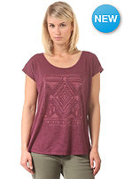 ROXY Womens Life S/S T-Shirt grape wine