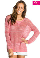 ROXY Womens Pink Blazing Knit Sweat washed red