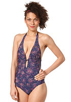 ROXY Womens Pretty Ditsy One Piece Bathing Suit navy pretty dist