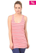 ROXY Womens Pulse Stripe S/S Top lipstick red