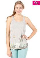 ROXY Womens Racer Tank Green S/S T-Shirt heather grey