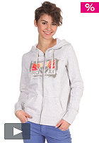 ROXY Womens Run Run Lover Hooded Zip Sweat light grey
