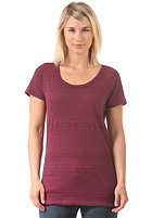 ROXY Womens Soca Dance S/S T-Shirt grape wine