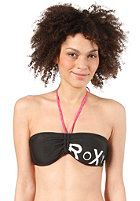 ROXY Womens Solid Seaside Bandeau Bikini Top true black