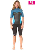 ROXY Womens Syncro 2/2Mm S/Sl Back Zip Spring Wetsuit blue