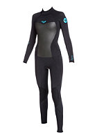 ROXY Womens Syncro Roxy 4/3 mm L/SL Back Zip Fullsuit black