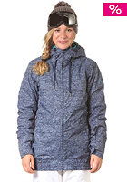 ROXY Womens Valley Hooded Jacket d blue texturi