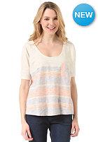 ROXY Womens West Jetty S/S T-Shirt persimmon island stripe patter