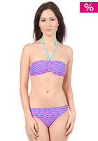 ROXY Womens Zig Zag Stripe Scooter Rio Bikini pacific blue
