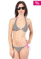 ROXY Zig Tag Stripe Brazilian Tie Side Bikini black
