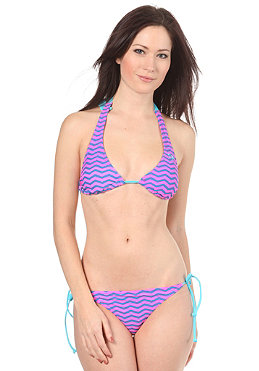 ROXY Zig Tag Stripe Brazilian Tie Side Bikini pacific blue