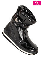 RUBBER DUCK Womens Snow Jogger Shiny PU black