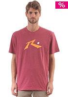 RUSTY Aargh S/S T-Shirt auburn