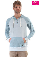 RUSTY Barber Henley Hooded Sweat aspen blue