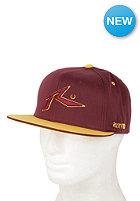 RUSTY Chronic Snapback Cap burgundy