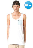 RUSTY Contrasts Tank Top white