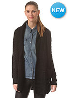 RUSTY Womens Chunky Monkey Cardigan black