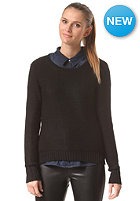 RUSTY Womens Devine Crew Knit Sweat black