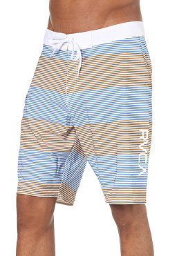 RVCA Civil Stripe Trunk 21 Boardshort golden brown