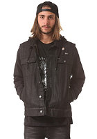 RVCA Fletcher Trucker Jacket black denim htr
