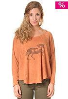 RVCA Womens Horse Longsleeve amber