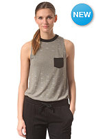 RVCA Womens No Guts Top dusty olive