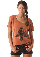RVCA Womens Pine Mountains S/S T-Shirt coconut shell