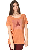 RVCA Womens Triangle S/S T-Shirt amber