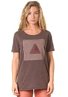 RVCA Womens Triangle S/S T-Shirt shale