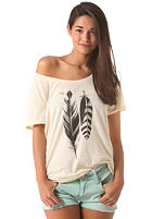 RVCA Womens VA Feathers S/S T-Shirt cloud