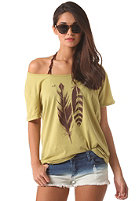 RVCA Womens VA Feathers S/S T-Shirt willow