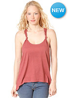 RVCA Womens White Shadow Top berry crush
