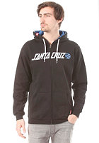 SANTA CRUZ Capital Hooded Zip Sweat black