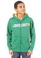 SANTA CRUZ Capital Hooded Zip Sweat irish green