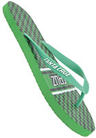SANTA CRUZ Check Strip Flop Sandals green/black