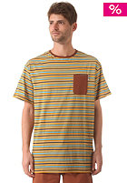 SANTA CRUZ Clifftop S/S T-Shirt caramel stripe