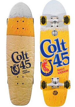 SANTA CRUZ Colt 45 40 Ounce Cruzer Complete Longboard 8.50