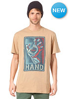 SANTA CRUZ Handstitched S/S T-Shirt tan