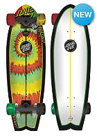 SANTA CRUZ Longboard Land Shark Rasta Tie Dye 8.8 one color
