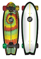 SANTA CRUZ Longboard Land Shark Rasta Tie Dye 8.8 one colour